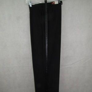 JM Collection Dress Pants Size 8P Pinstripe Black